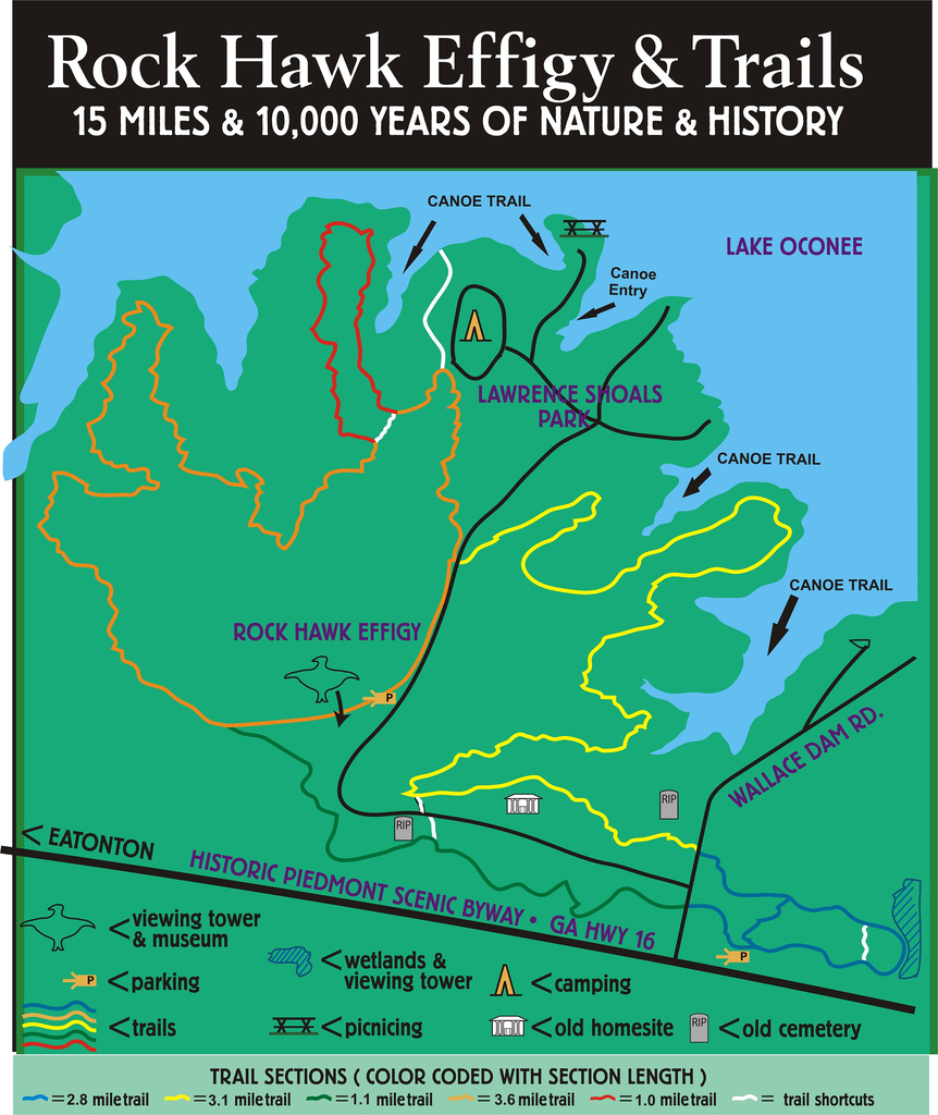 Pine Log WMA Map Forest Service Roads in North Georgia Map